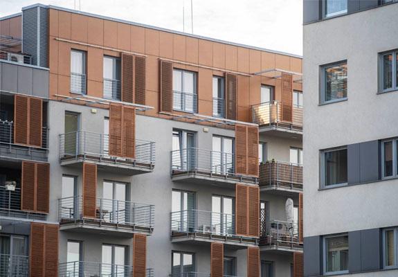 12 budynków, 879 mieszkań - Francuska Park. Wykonaliśmy tynki.